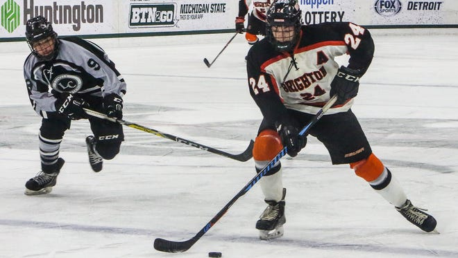 Brighton's Jake Crespi was named Mr. Hockey Sunday, and joined teammate Logan Neaton and Hartland's Josh Albring on the All-State Dream Team.