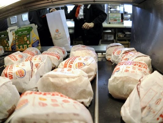 File photo: Don't try to guess how many calories are in that burger. New research found that people are bad at estimating calories on fast food.