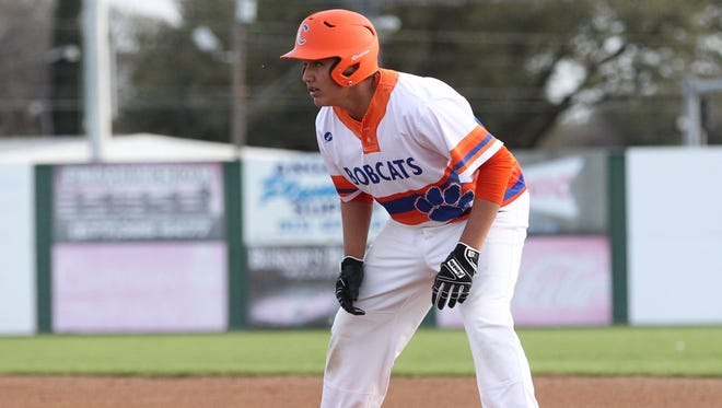 San Angelo Central's Ryan Ramon drove in a run in the Bobcats' 9-1 win against Killeen Shoemaker in the regular-season finale Friday in Killeen.