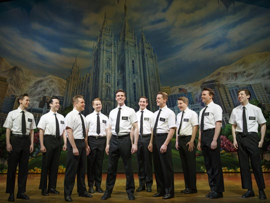 "The company of ""The Book of Mormon"" performing at ASU"