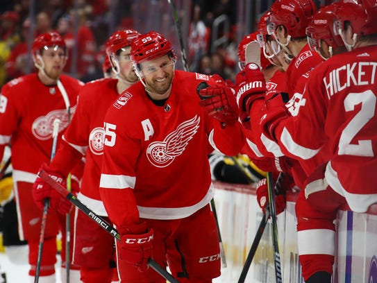 Red Wings' Niklas Kronwall, 37, missed the first three games of the 2017-18 season, but he played the entire rest of the season.