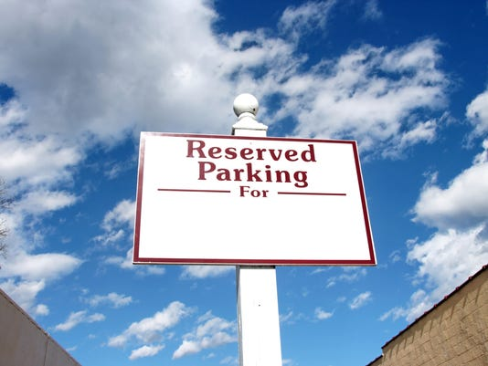 Reserved Parking Sign
