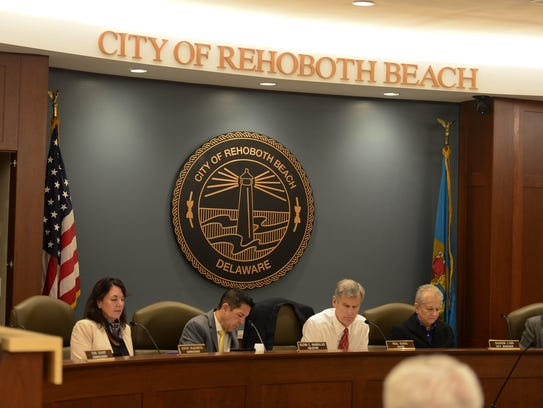 The City of Rehoboth Beach Commissioners meet on Monday, Nov. 6, 2017 in the new City Hall complex in Rehoboth Beach, Del.