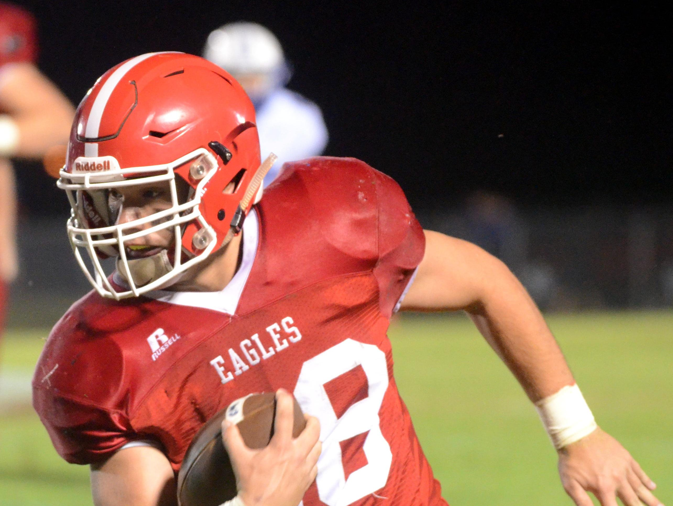 Westmoreland High senior fullback Dylan Todd rushed for a game-high 98 yards and a touchdown as the Eagles rolled to a 35-7 victory over visiting Jackson County on Friday evening.