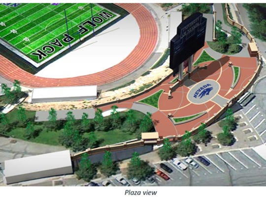 An artist rendering of the Wolf Pack's Champions Plaza project.