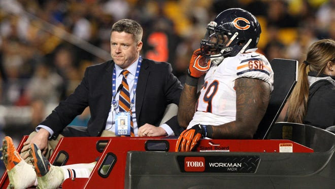 Bears DT Henry Melton saw his season end Sept. 22 with a torn knee ligament.