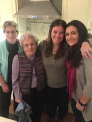 Family helped Katie through: (from left) her mom Chrys