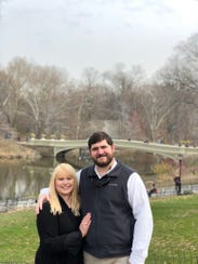 Tyler Albin and Alexis Guice Albin were married April