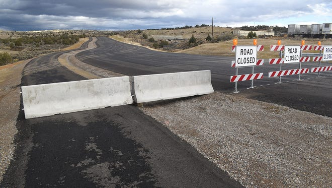 The southern phase of the East Aztec Arterial Route is pictured Friday off U.S. Highway 550 just south of Aztec. The Aztec City Commission will consider an item related to the project on Tuesday.