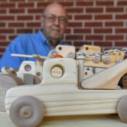 Don Stockton of Columbia has been making wooden toys