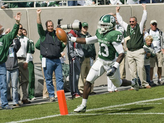 Travis Key of MSU crosses the goal line after a 31-yard