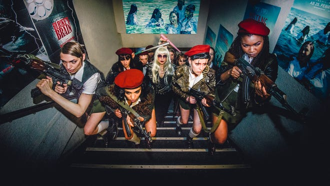 """The Female Liberation Army infiltrate a movie theater in """"The Misandrists."""""""