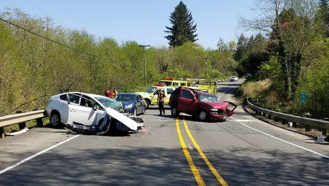 An Astoria man died in a crash on Highway 30 Sunday afternoon.