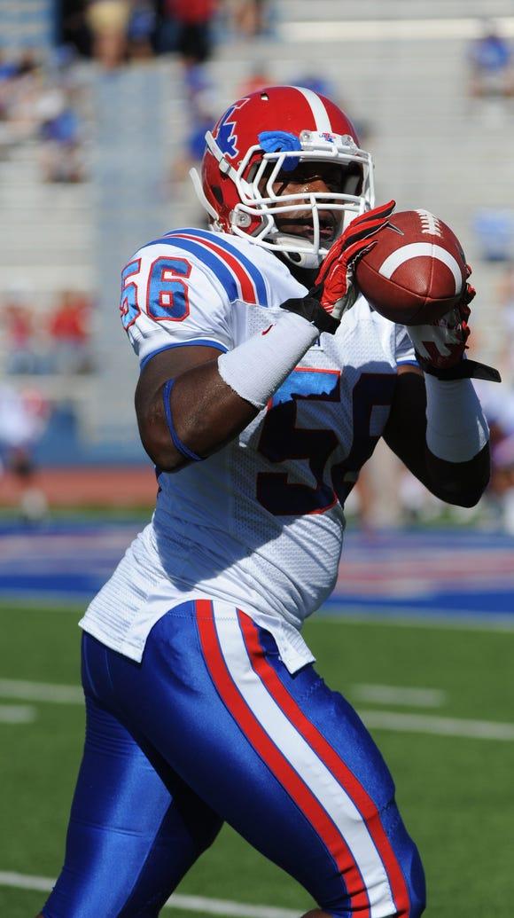 Former Louisiana Tech linebacker Tony Johnson signed