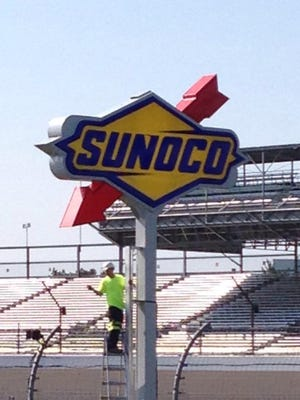 Two new Sunoco signs are at Indianapolis Motor Speedway.
