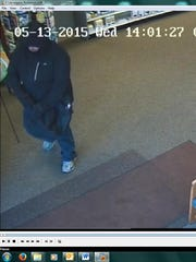 Police say the man seen in this surveillance photo