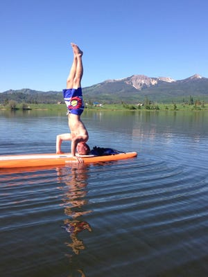 31. Getting in some standup paddleboard yoga on Steamboat Lake.