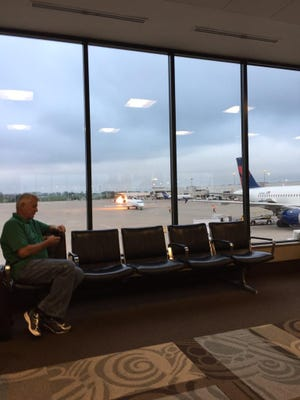 Passenger Jason Taylor of Utah captured this image of Delta Connection Flight 4811 while he was waiting for a flight at Nashville International Airport on Aug. 7, 2015.