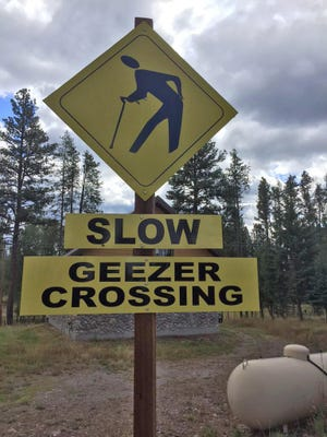 This sign can be found near Seeley Lake in Montana.