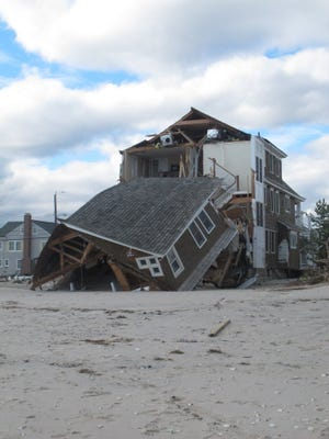 A home in Mantoloking, N.J., destroyed by Superstorm Sandy in 2012.