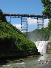 The existing Portageville railroad bridge in Letchworth State Park.