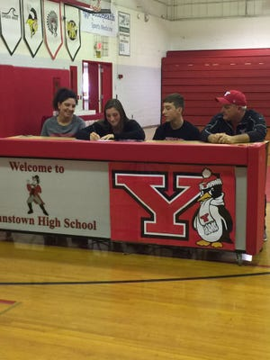 Johnstown senior Maddi Lusk recently signed her letter of intent to play college softball at Youngstown State.