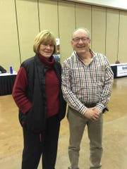 Ruidoso County Manager Nita Taylor and Jeff Kaplan