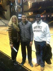 Vanderbilt basketball player Wade Baldwin IV, center,