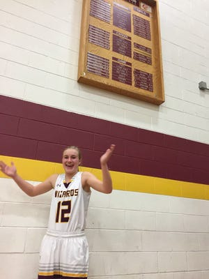 Amanda Ward set a Windsor school record for points in a single game with 37 in Friday's win over Frederick.