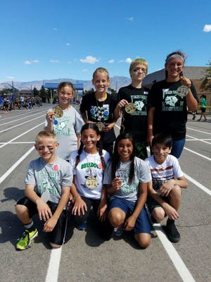 Virgin Valley Elementary School students won the relay race during Playground Olympics Friday. They competed against four other schools.
