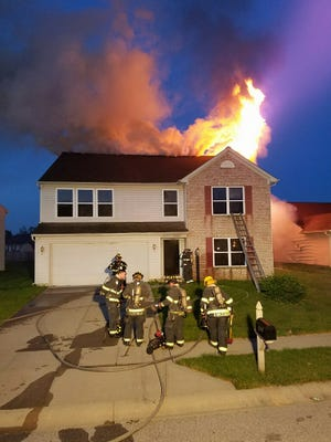 A fire at a vacant house was put out early Monday morning on the Eastside of Indianapolis.