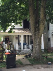 Crews responded to a house fire on Maholm Street.