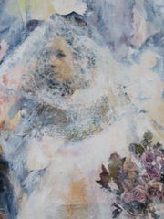 """Wedding"" 2013 (detail), mixed media on canvas, by Claire Lambe."