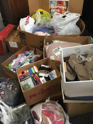 Clothes, sandals and hygiene products are among the donated items that came in as part of USA TODAY NETWORK-Wisconsin's drive for victims of sexual assault.