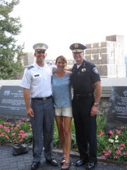 Liam, Teresa, and Kelly McMillin at West Point.