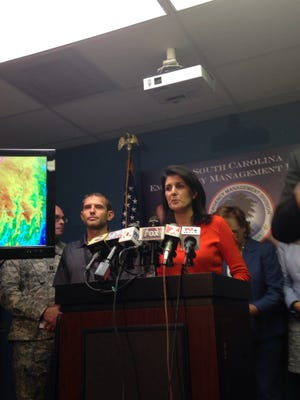 South Carolina Gov. Nikki Haley said hackers are using Hurricane Matthew to access computers of South Carolina residents,