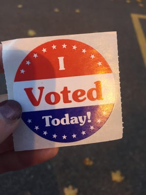 The coveted 'I voted today' sticker.