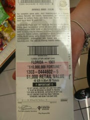 Christina Marie Beyersdorf  was charged with stealing 40 $25 Florida scratch-off lottery tickets.