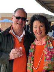 Joe and Sharon Pryse on the outdoor patio at the CCI tailgate party.