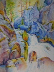 """Terri Hazeleur says her favorite subject is water """"because it is so fluid and has such movement."""""""