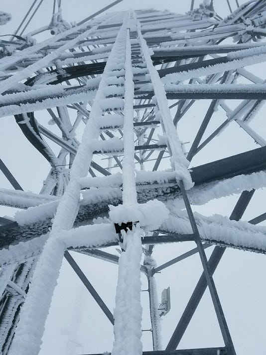 Ice thwarts tower repairs
