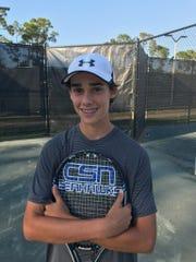 Community School of Naples tennis player Justin Braverman.