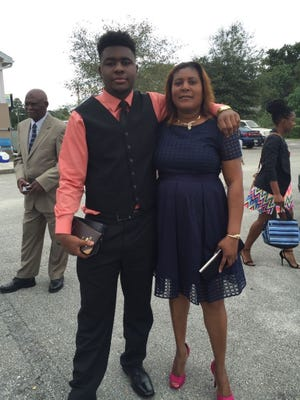 Venel Vaillant and his aunt, Evelyne Evelyne Charlesdessin.