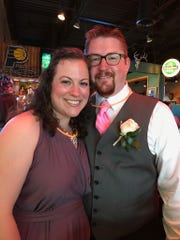 Scott Swingle with his wife, Andrea.