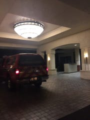 The Marco Island Fire-Rescue Department responding to reports of flooding at the Hilton Marco Island Beach Resort & Spa early June 13.