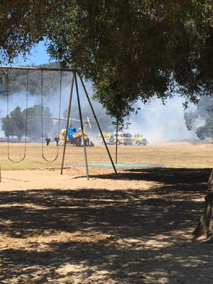 Ventura County fire responded to a small brush fire Friday morning in Mira Monte near Ojai.