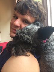 Otto Warmbier with Sassy, a friend's dog.