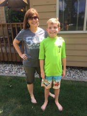 Beth Adams and her great-nephew William Ihle. Adams