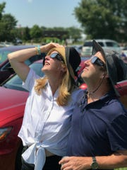 Total view We bumped into Bonnie and Tony Funke checking out the eclipes. The couple were in the path of totality in Hopkinsville, Kentucky.