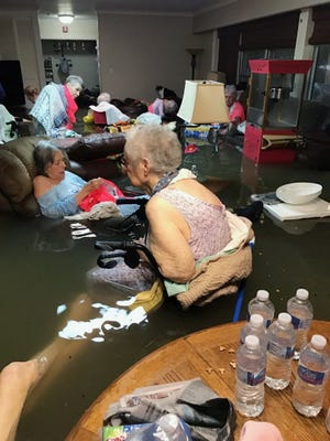 A tweet drew emergency crews to this Houston area nursing home where residents were stuck in waist-deep floodwaters caused by Hurricane Harvey.